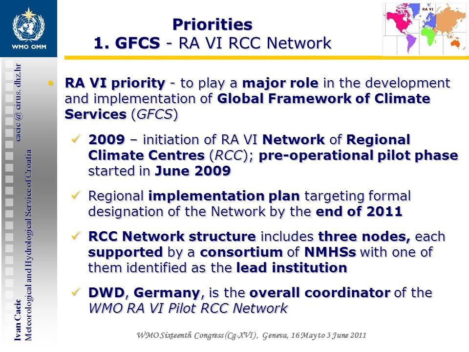 Ivan Cacic cacic @ cirus. dhz.hr Meteorological and Hydrological Service of Croatia WMO Sixteenth Congress (Cg-XVI), Geneva, 16 May to 3 June 2011 RA