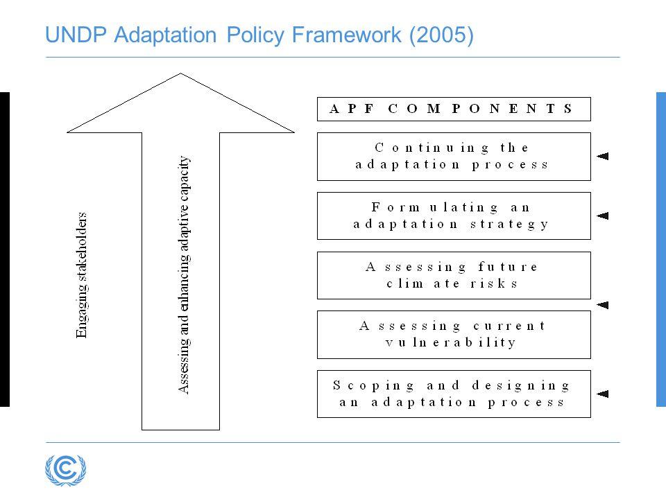 UNDP Adaptation Policy Framework (2005)