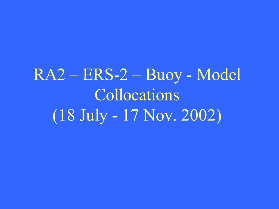 RA2 – ERS-2 – Buoy - Model Collocations (18 July - 17 Nov. 2002)