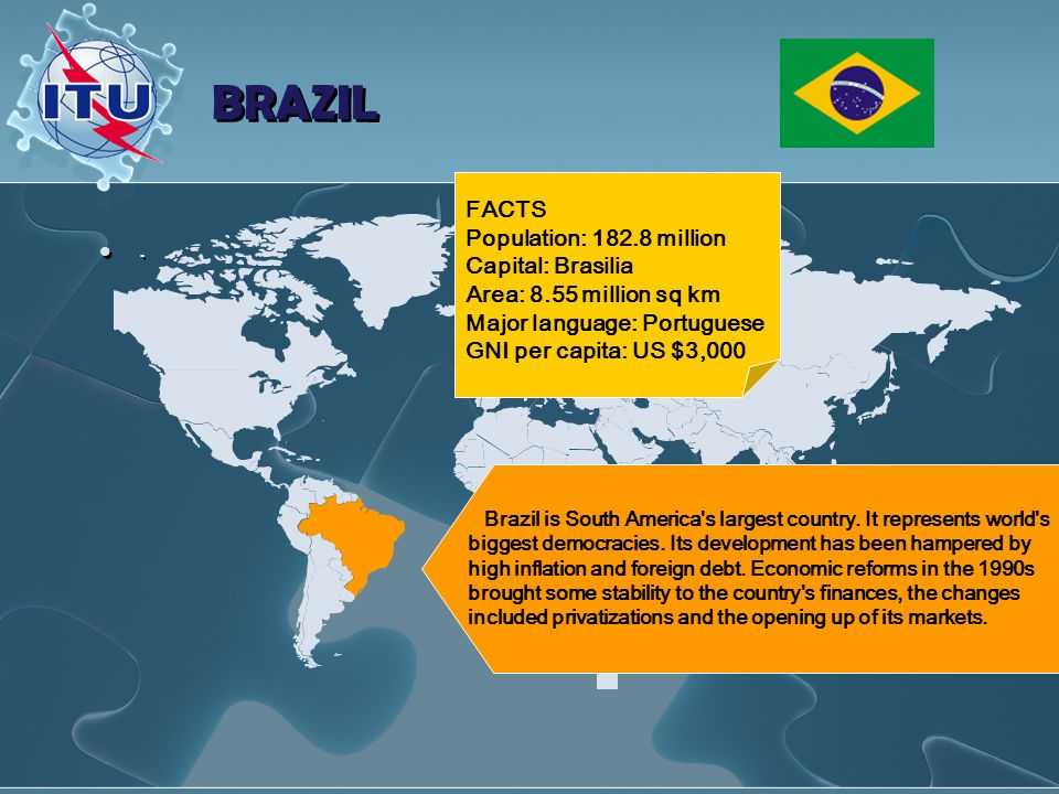 BRAZIL.. Brazil is South America s largest country.