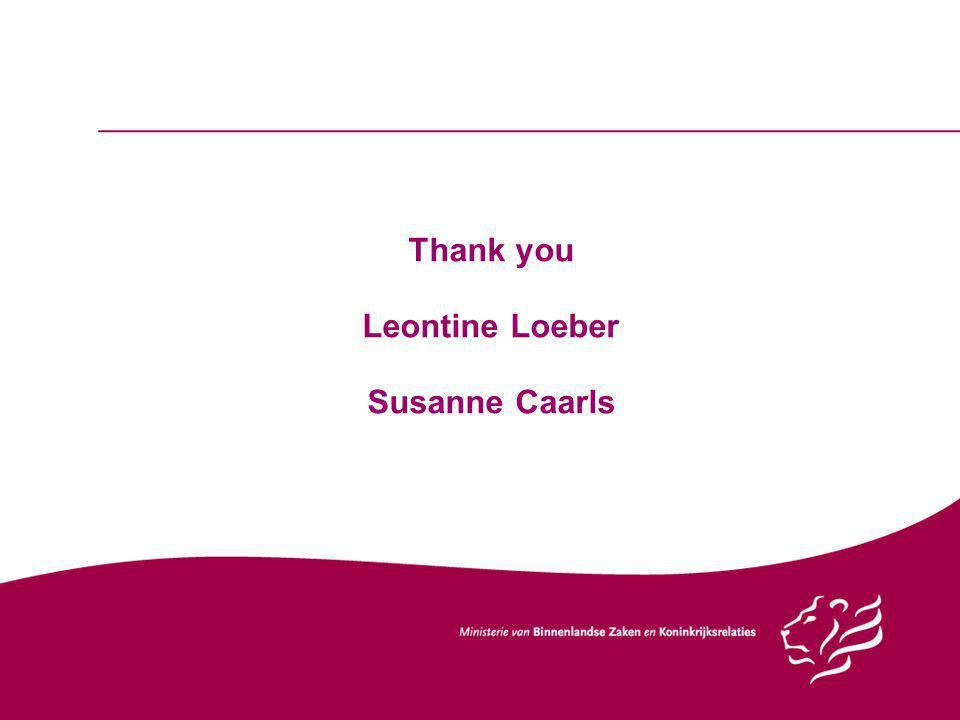 Thank you Leontine Loeber Susanne Caarls