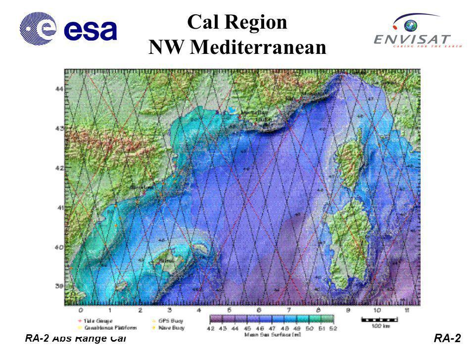 RA-2 Cal Region NW Mediterranean RA-2 Abs Range Cal