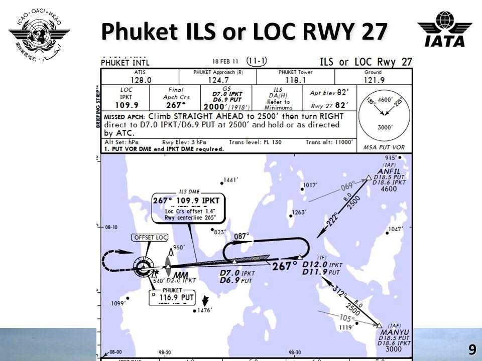 Phuket ILS or LOC RWY 27 9