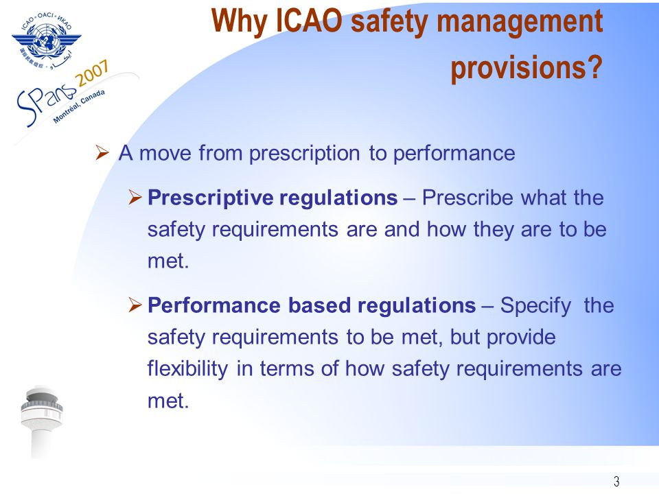 14 Acceptable level of safety  Implementation  The concept of acceptable level of safety is expressed in practical terms by two measures or metrics:  safety performance indicators  safety performance targets  It is delivered through various tools and means:  safety requirements…  safety requirements.