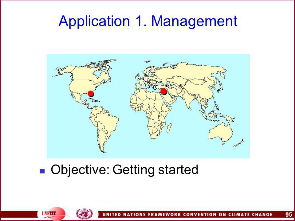 95 Application 1. Management Objective: Getting started