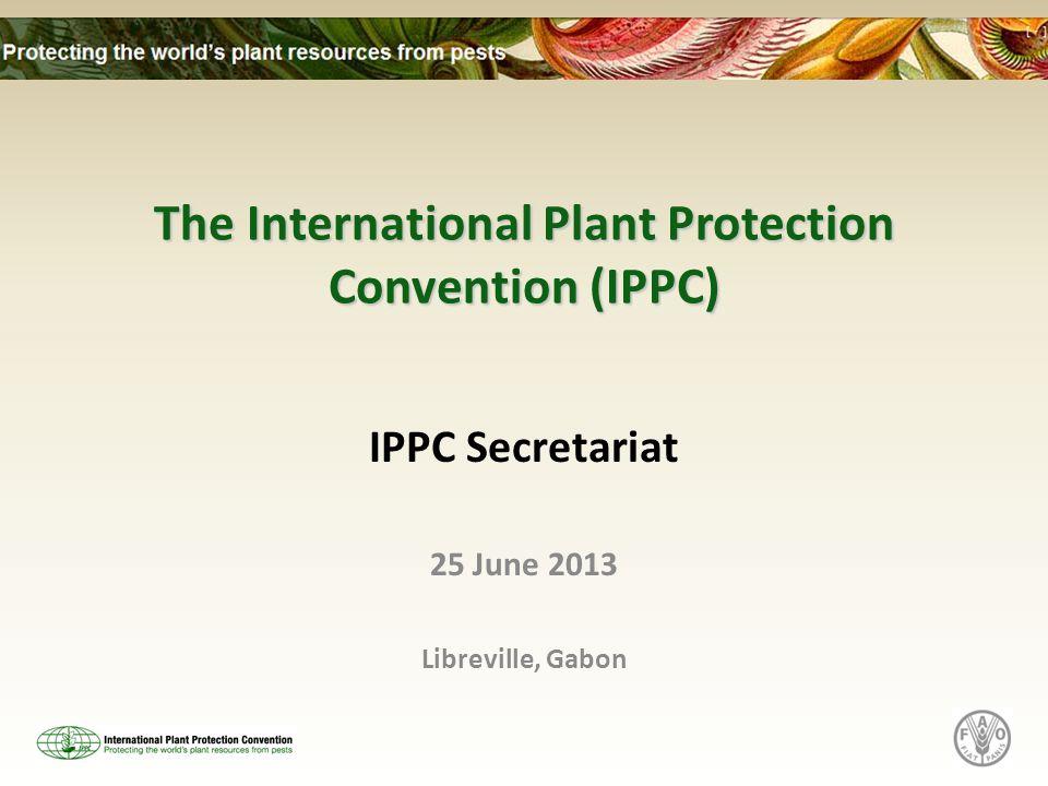 Contact IPPC Secretariat Viale delle Terme di Caracalla 1 00153 Rome, Italy Tel: (+39) 06 5705 4812 Fax: (+39) 06 5705 4819 E-mail: ippc@fao.org Website: www.ippc.int