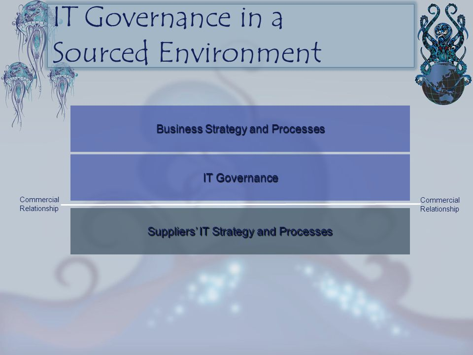 Business Strategy and Processes IT Governance Suppliers' IT Strategy and Processes Commercial Relationship Commercial Relationship