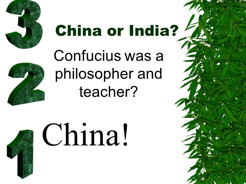 China or India? 2008 Olympics? China!
