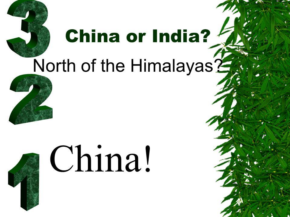 China or India.
