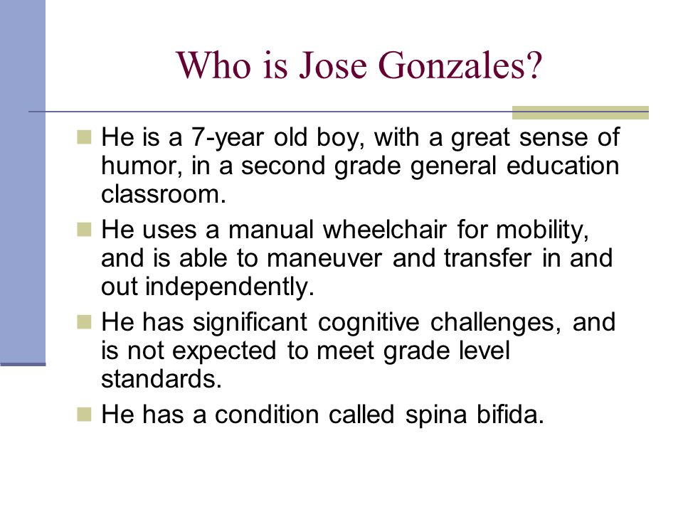 Who is Jose Gonzales.