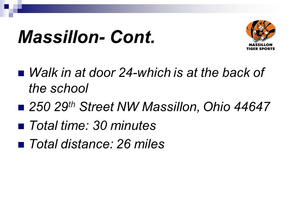 Massillon- Cont.