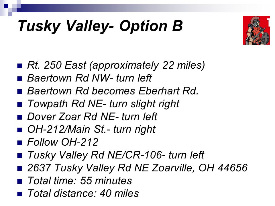 Tusky Valley- Option B Rt.