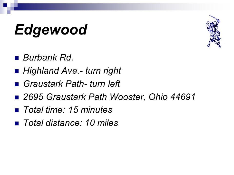 Edgewood Burbank Rd.