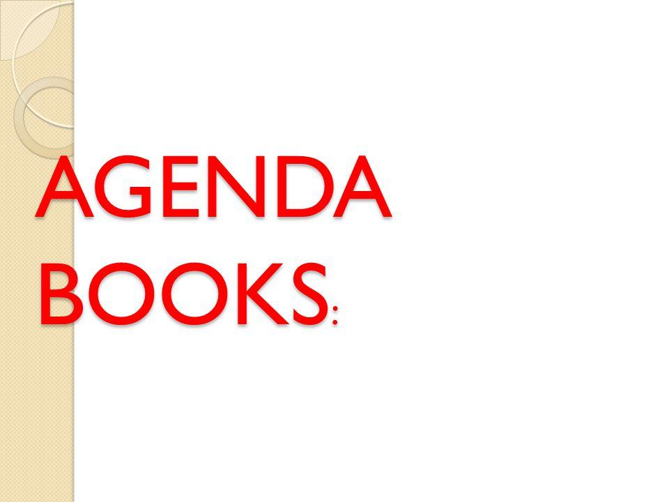 AGENDA BOOKS :