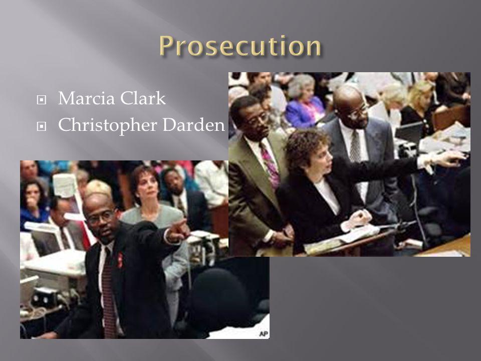  Marcia Clark  Christopher Darden