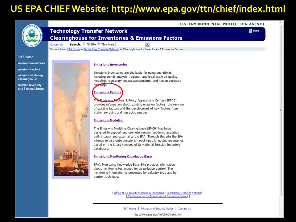 13 2014 Emissions Inventory Workshop US EPA CHIEF Website: http://www.epa.gov/ttn/chief/index.html