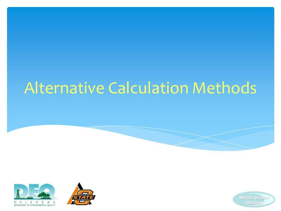 Alternative Calculation Methods