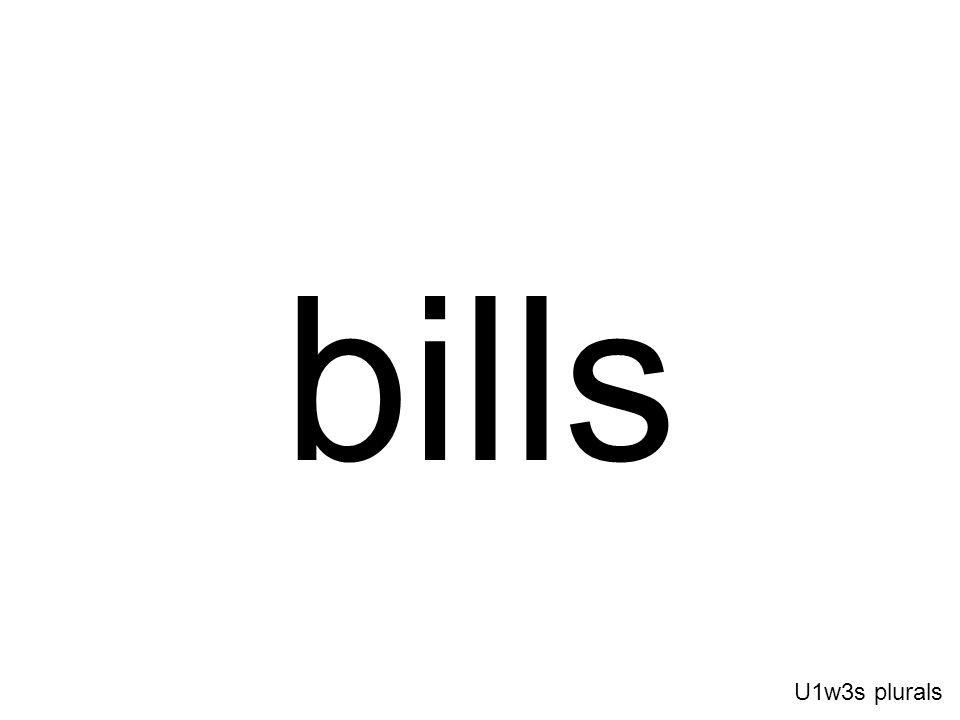 bills U1w3s plurals