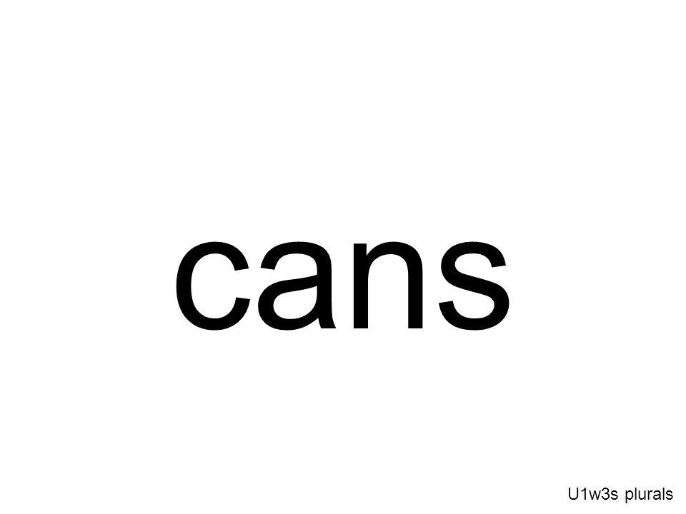 cans U1w3s plurals