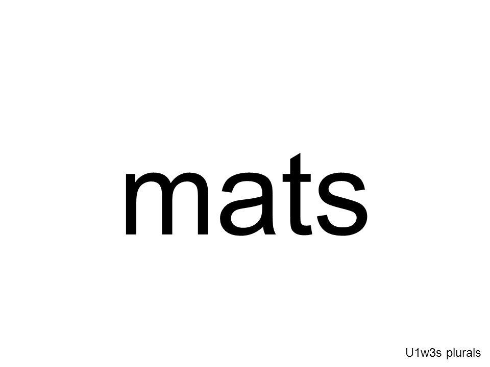 mats U1w3s plurals