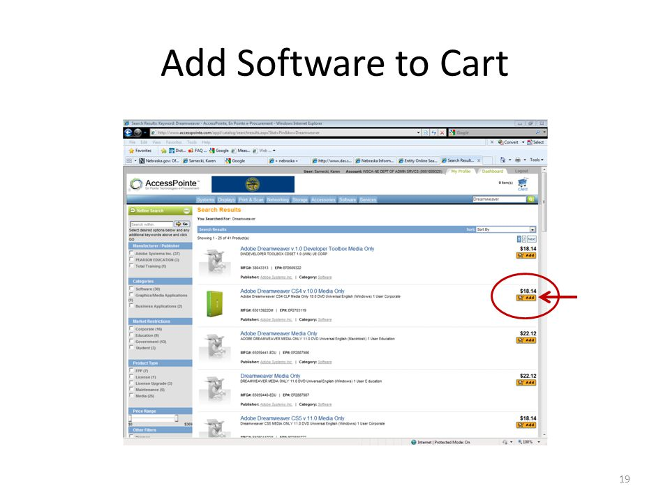 Add Software to Cart 19