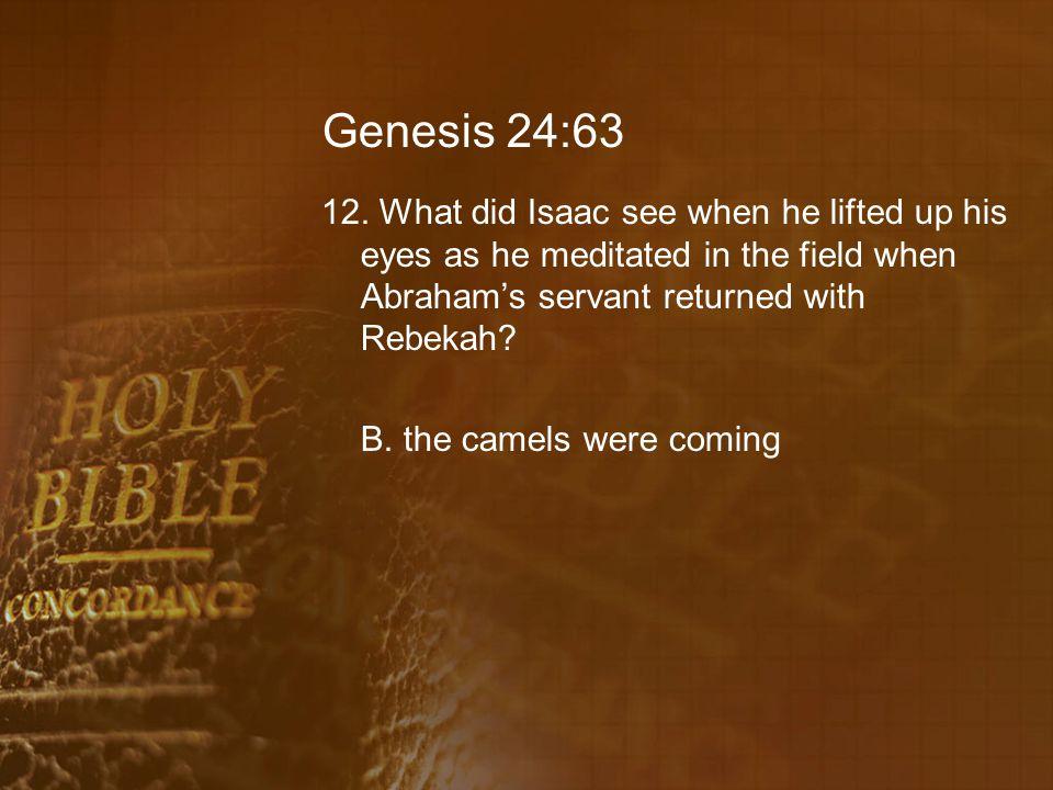 Genesis 24:63 12.