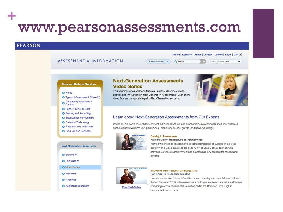 + www.pearsonassessments.com
