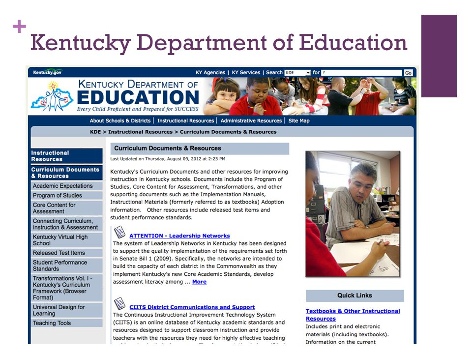 + Kentucky Department of Education