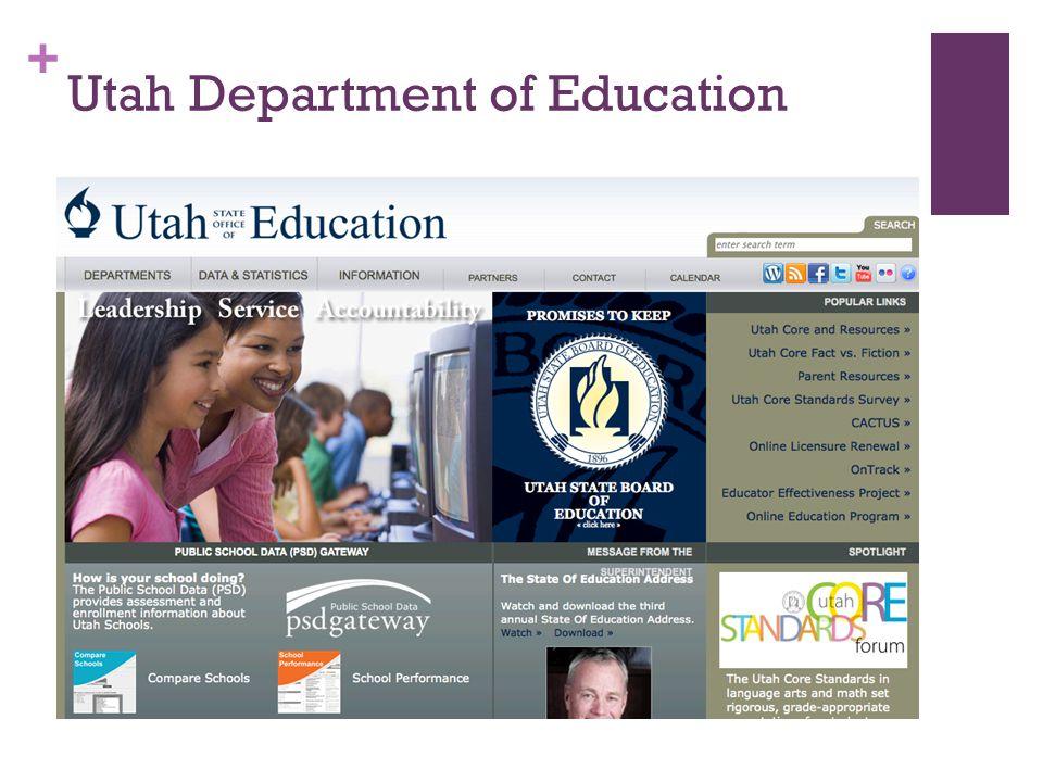 + Utah Department of Education