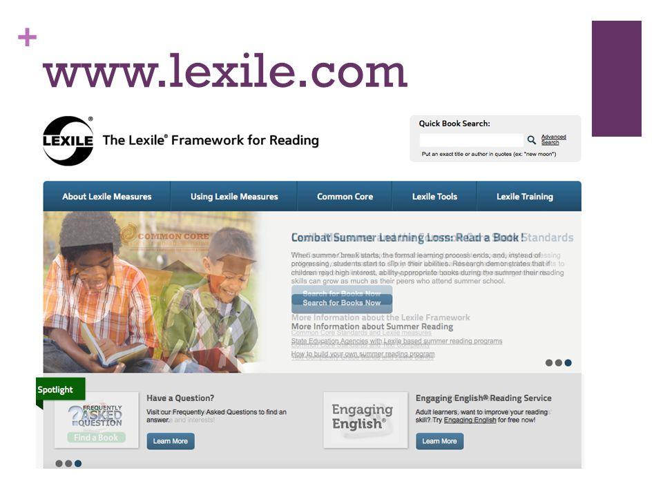 + www.lexile.com