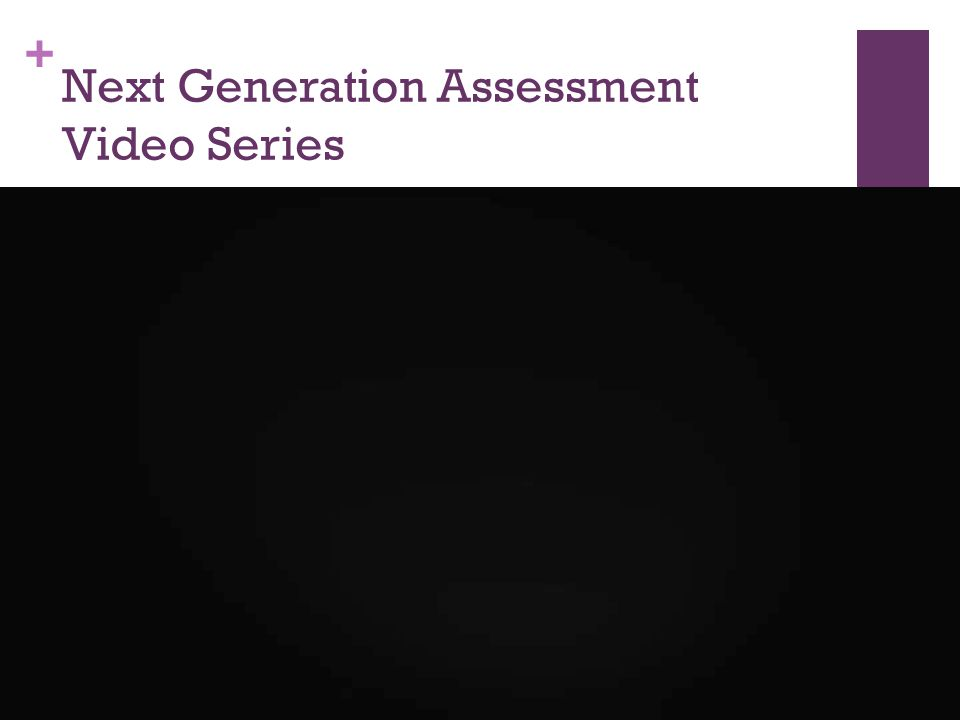 + Next Generation Assessment Video Series