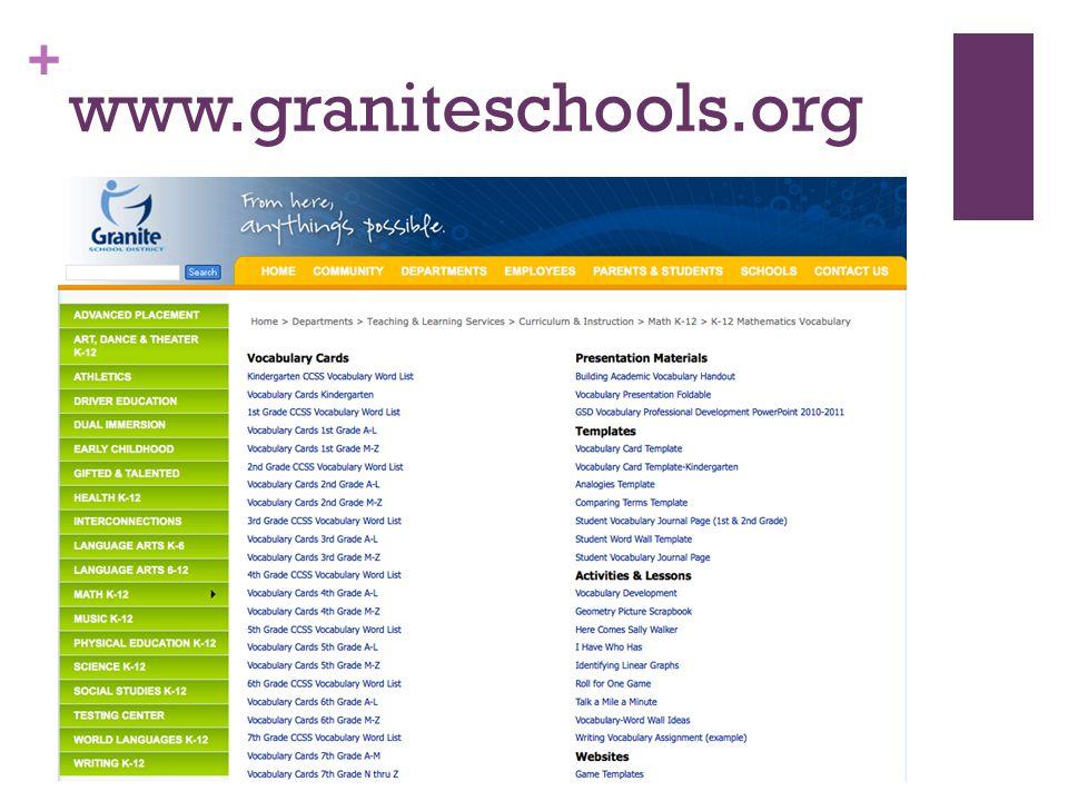+ www.graniteschools.org