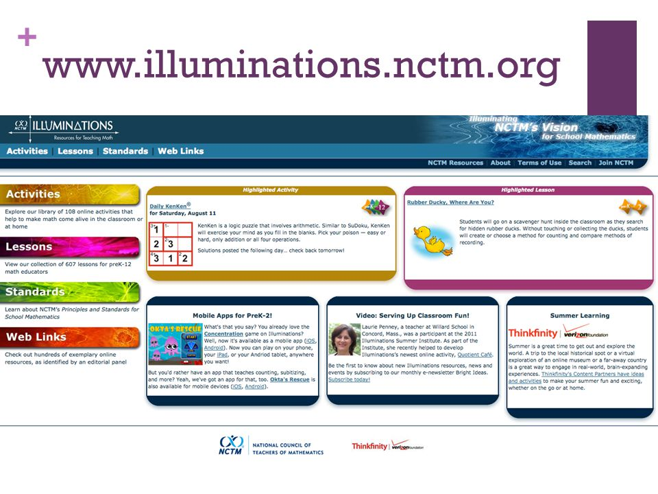 + www.illuminations.nctm.org