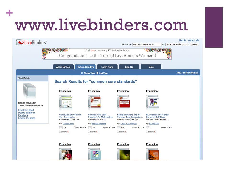 + www.livebinders.com