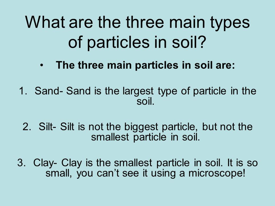 Why should we study soil.