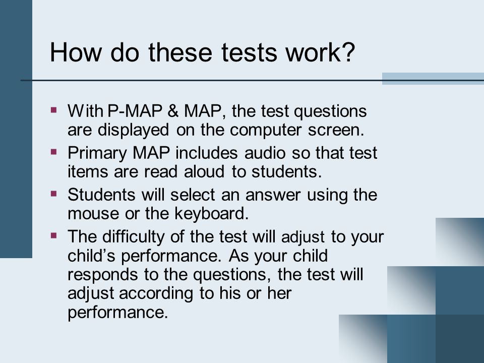 How do these tests work.