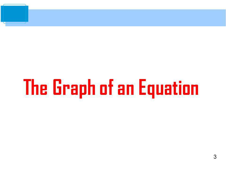 3 The Graph of an Equation