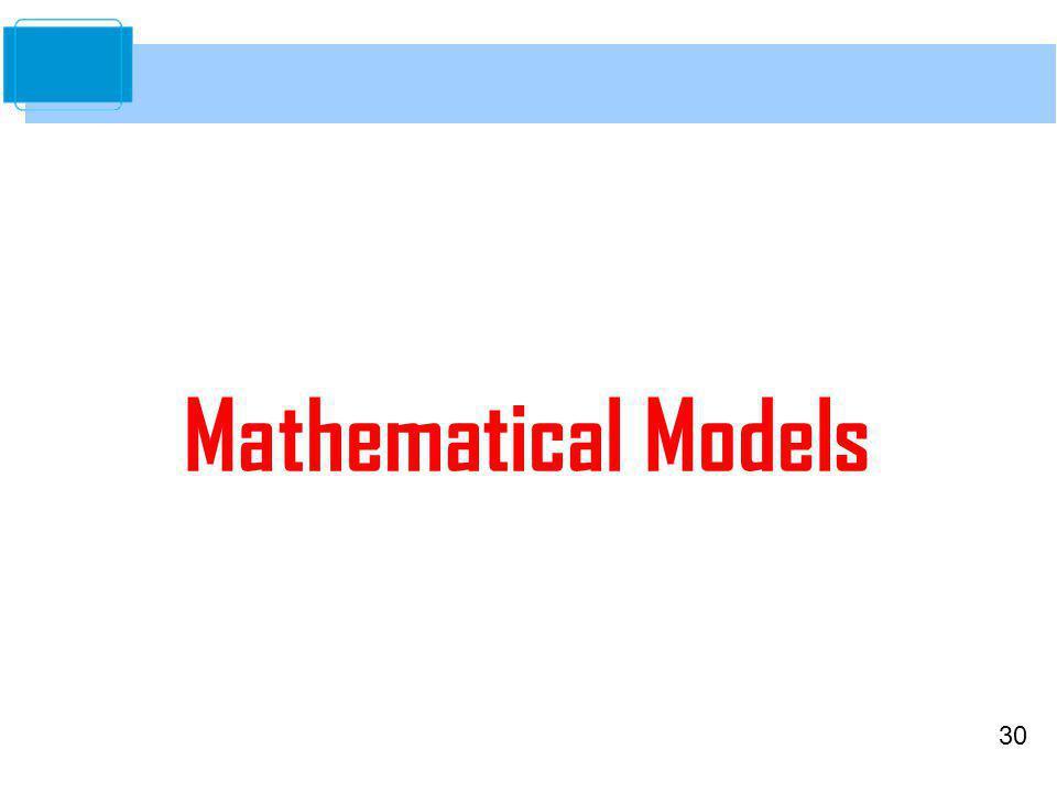 30 Mathematical Models