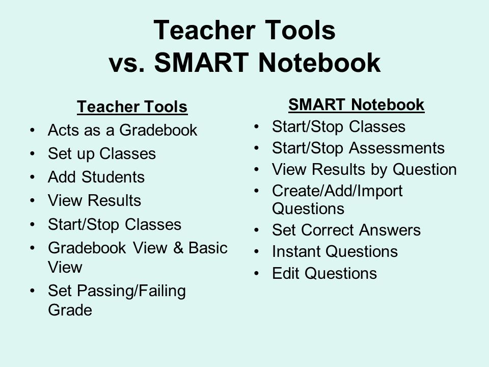 Teacher Tools vs.