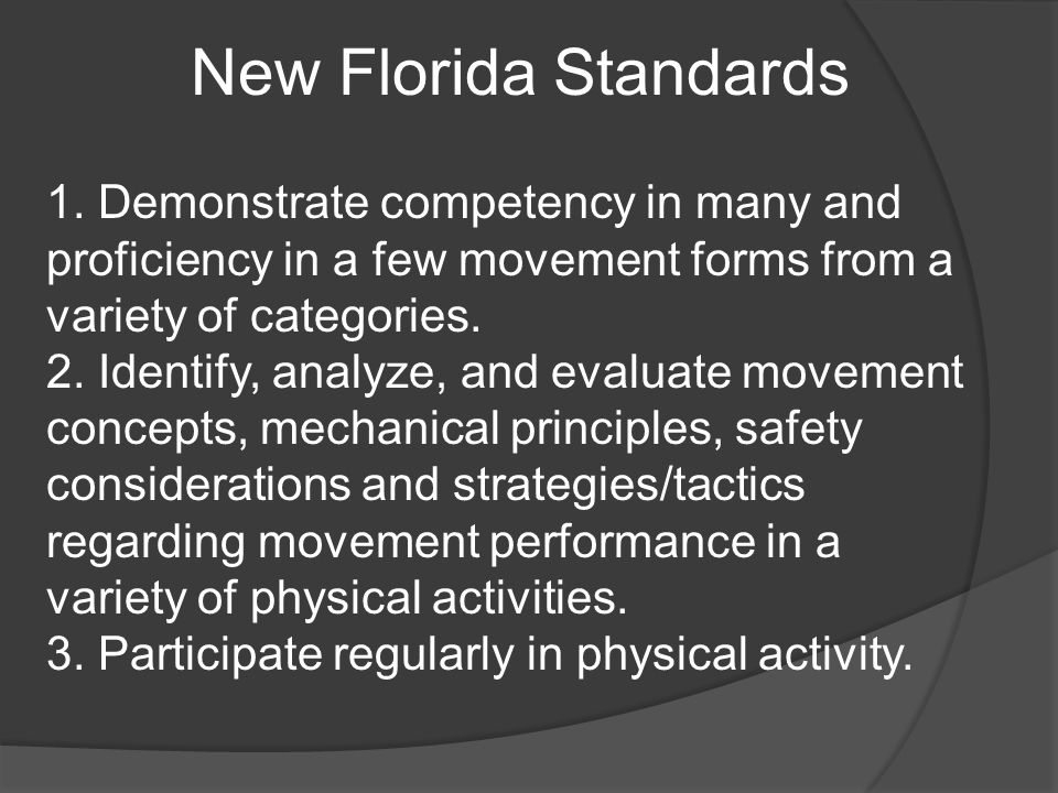 New Florida Standards 1.