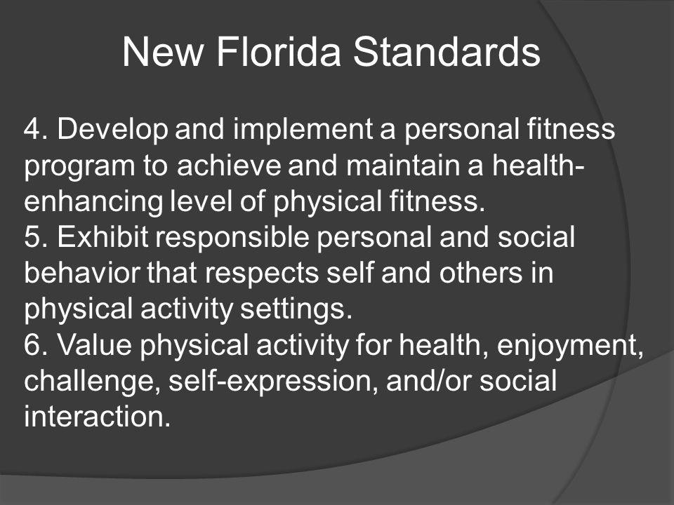 New Florida Standards 4.