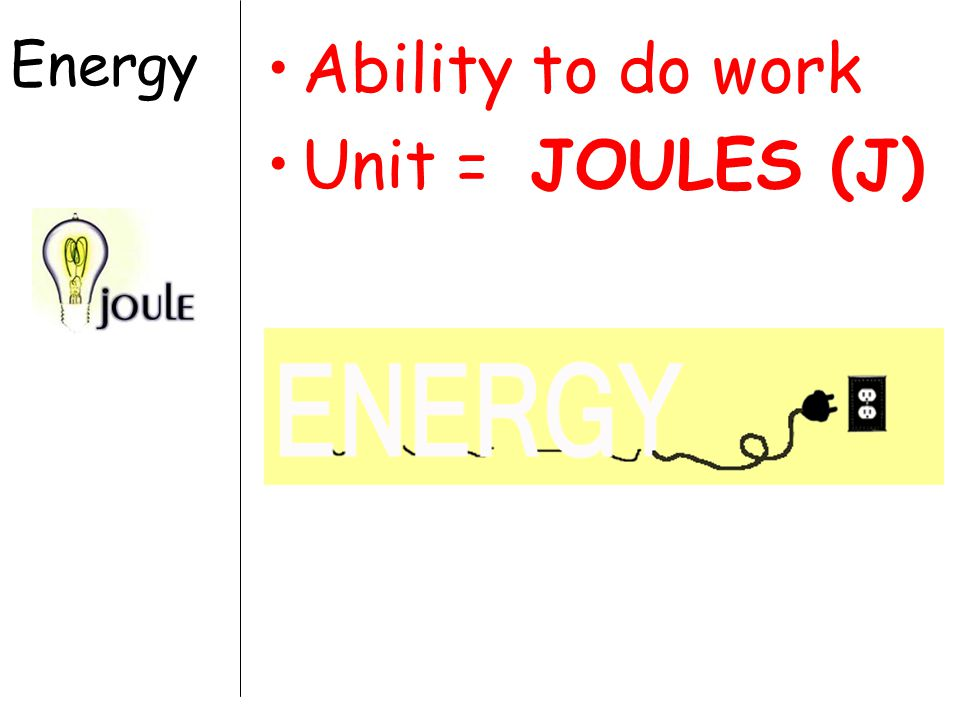 Law of Conservation of Energy Energy cannot be created or destroyed, only changed from one form to another