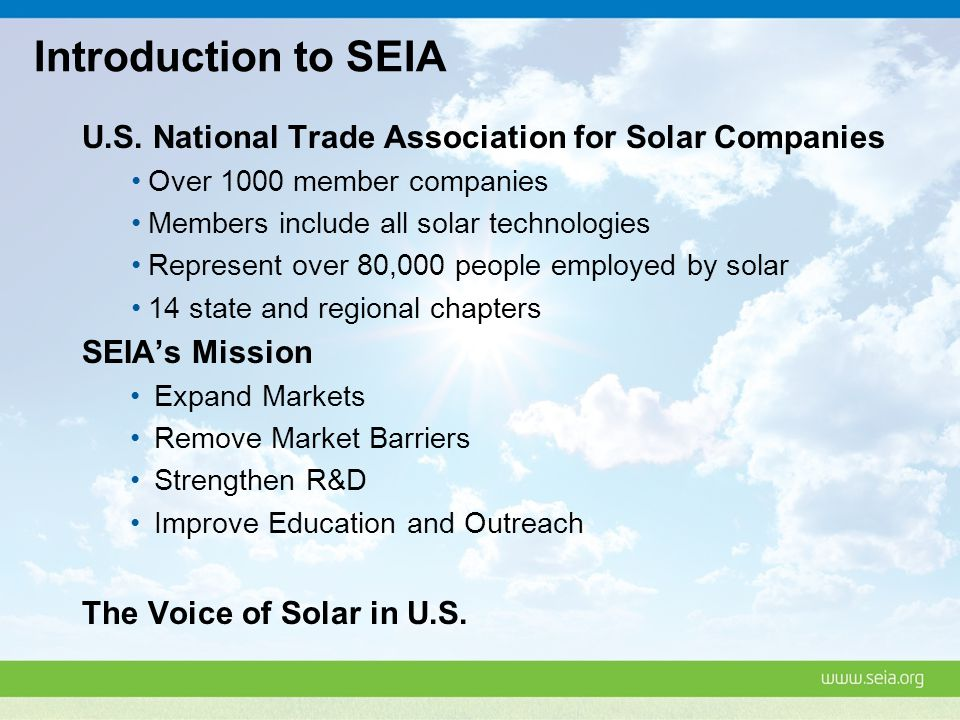 Introduction to SEIA U.S.