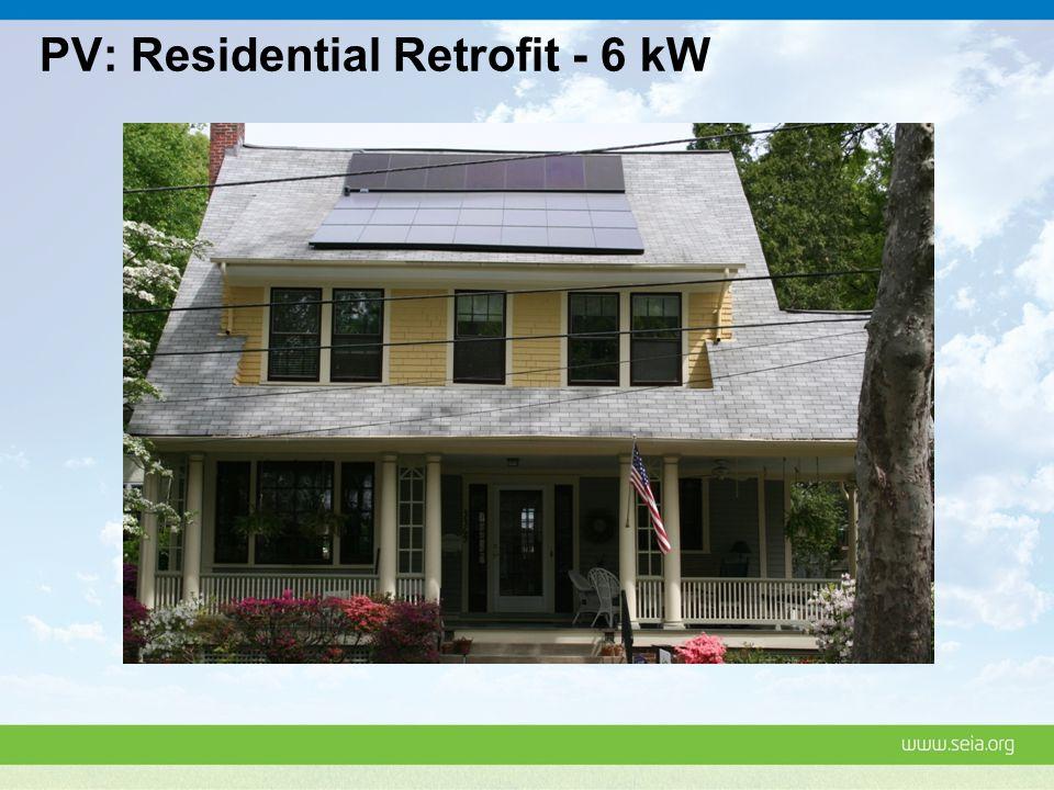 PV: Residential Retrofit - 6 kW