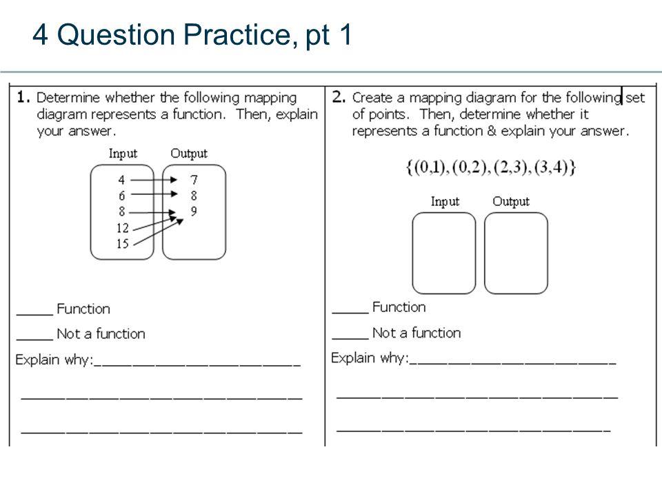 4 Question Practice, pt 1