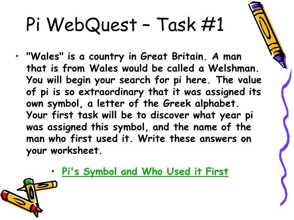 Pi WebQuest – Task #1