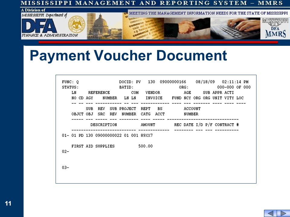 11 Payment Voucher Document