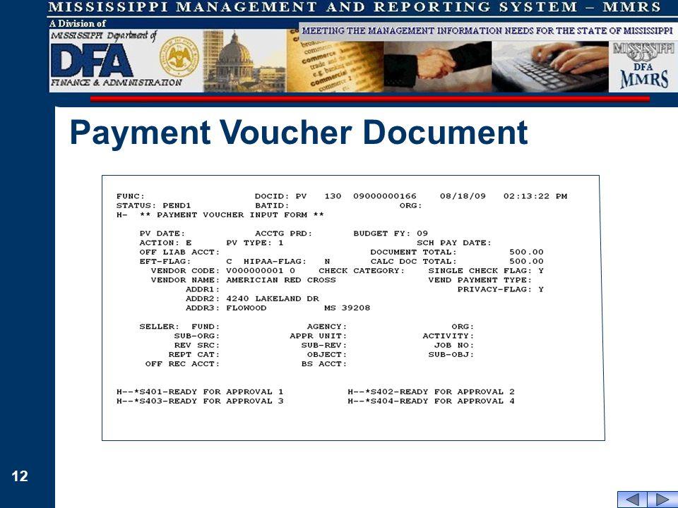 12 Payment Voucher Document