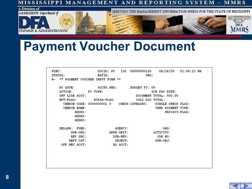 8 Payment Voucher Document