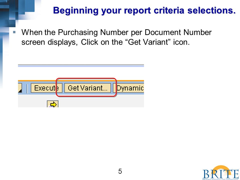 16 Choosing the Layout  In the Choose Layout box, scroll down until you find the /Open FY11PO Layout.